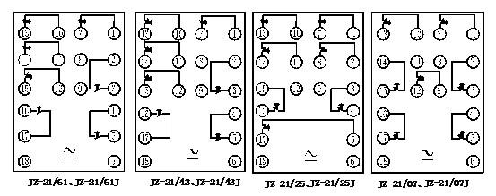 jz-21,jz—21e系列断电延时中间继电器